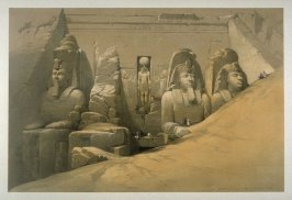 Front Elevation of the Great Temple of Aboosimble, Nubia- Egypt