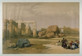 Fragments of the Great Colossus at Thebe - Egypt