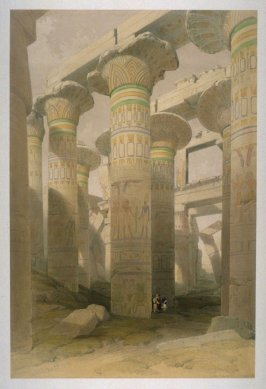 Oblique View of the Hall of Columns, Karnac - Egypt