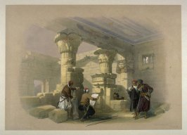 View from under the Portico of Dayr-El-Medeeneh, Thebes - Egypt