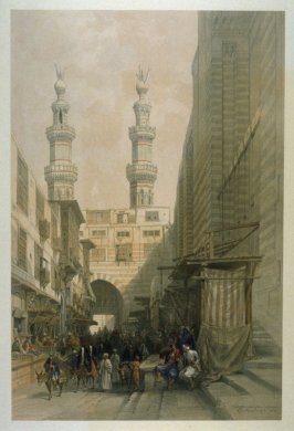 Minarets and Grand Entrance of the Metwaleys at Cairo - Egypt