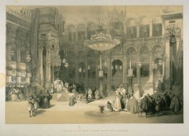 Interior of the Greek Church of the Holy Sepulchre - The Holy Land