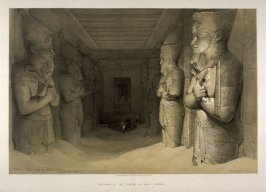 Interior of the Temple of Aboo-Simble- Egypt