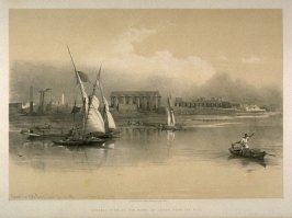 General View of the Ruins of Luxor, from the Nile - Egypt