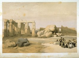 Fragments of the Great Colossi at the Memnonium - Egypt