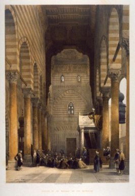 Interior of the Mosque of the Metwalys- Egypt