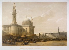 Mosque of Sultan Hassan, from the Great Square of the Square of the Rameyleh - Egypt