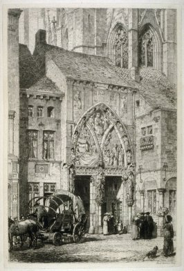 A Corner at Huy, plate 16 in the book, The Etcher (London: Williams and Norgate, 1879), vol. 1
