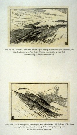 Two landscape view of Ben Cruachan and Ben Anea, from 'Explanatory pen sketches' illustrating Hamerton's 'Landscape' (1885)
