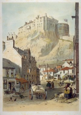 Edinburgh Castle, from the Grassmarket
