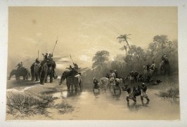 Return from Hog-Hunting, third plate in the book, Recollections of India … Part I. British India and the Punjab (London: Thomas M'Lean, 1847)