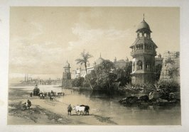 Delhi. Palace of the King, fourth plate in the book, Recollections of India … Part I. British India and the Punjab (London: Thomas M'Lean, 1847)