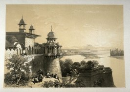 View from the Palace and Fort at Agra, fifth plate in the book, Recollections of India … Part I. British India and the Punjab (London: Thomas M'Lean, 1847)