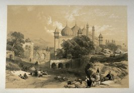 Jama Musjid, Agra, sixth plate in the book, Recollections of India … Part I. British India and the Punjab (London: Thomas M'Lean, 1847)