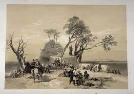 British Outpost in Advance of Rhodawala, eighth plate in the book, Recollections of India … Part I. British India and the Punjab (London: Thomas M'Lean, 1847)
