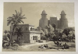 Hazari Bagh, part of the Citadel and Palace of Lahore, eleventh plate in the book, Recollections of India … Part I. British India and the Punjab (London: Thomas M'Lean, 1847)