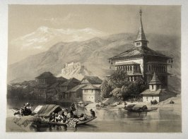 City of Kashmir, twenty-third plate in the book, Recollections of India … Part I. British India and the Punjab (London: Thomas M'Lean, 1847)