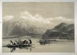 Wulur Lake, twenty-fifth plate in the book, Recollections of India … Part I. British India and the Punjab (London: Thomas M'Lean, 1847)