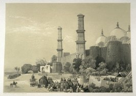 Entry of the Maharajah Dhulip Sing into Lahore, ninth plate in the book, Recollections of India … Part I. British India and the Punjab (London: Thomas M'Lean, 1847)