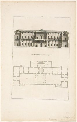 Plate VIII, original for Book II of The Four Books of Architecture