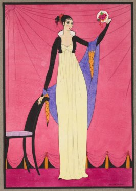 A History of Costume: Woman dressed in Empire Style Costume