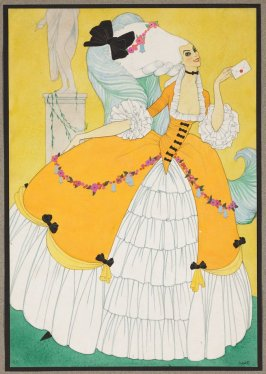 A History of Costume: Woman dressed in the style of 1775-1780