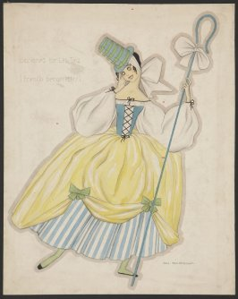 Costume design for Lea Taiz (French bergerettes)