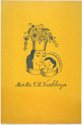 Christmas Card: Crowned Madonna and Child