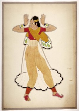 Untitled (Female Dancer with a Transparent Overskirt), one of a set of ten costume designs for the ballet, Bluebeard