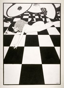 Untitled (Salome with the head of John the Baptist), from a series of drawings based on scenes from the play, Salome by Oscar Wilde