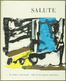 Cover for the book Salute by James Schuyler in the Portfolio of 4 Books of Poetry (New York: Tiber Press, 1960)