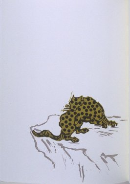 """Cheetah"" in the book Bestiary by Bradford Morrow (New York: Grenfell Press, 1990)."