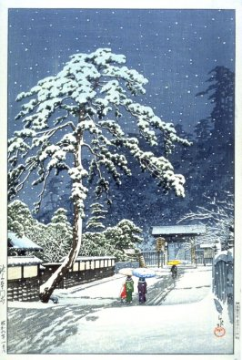 Honmomji Temple in the Snow