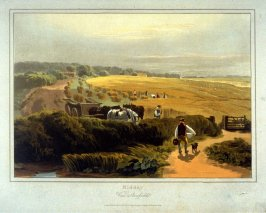 Mid-day, View of a Cornfield, illustration to Cox's 'A Treatise on Landscape Painting & Effect in Watercolours' (London, 1814)
