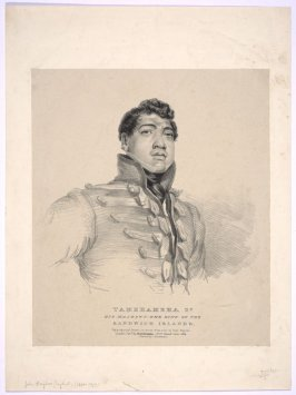Portrait of Tamehameha, King of Sandwich Islands