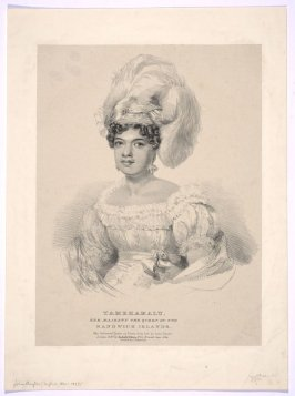 Portrait of Tamehamalu, Queen of Sandwich Islands