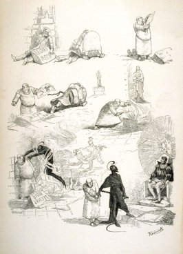 A series of humorous sketches, from Le Chat Noir