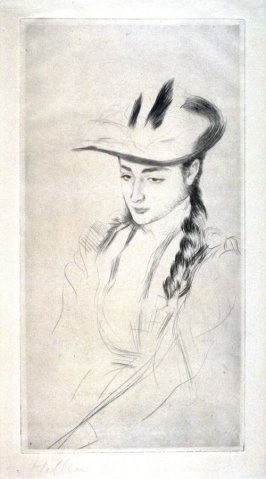 Study of a young woman with hat