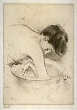 Woman Washing Elbow