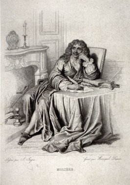 Portrait of Moliere in His Studio