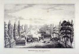 ENCUENTRO EN JAMAICA/ (El dia 3 de Octubre de 1841)(Encounter in Jamaica, The day of 3 October 1841), a page from an unidentified historical album