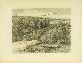 """""""The Hop-Gardens of England,"""" facing pg. 7, in the book Cecil Lawson: A Memoir by Edmund W. Gosse (London: The Fine Art Society, 1883)"""