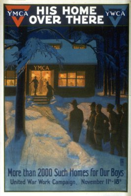 His Home Over There - World War I poster