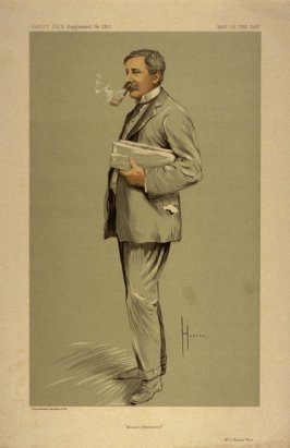 """Modern Pantomime"" (Mr. J. Hickory Wood) Man of the Day No. 2310, from Vanity Fair Supplement"