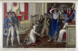 Representation of the Coronation of Napoleon in the Church of Notre Dame...