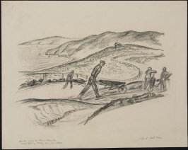 On the Road to Point Bonita, Fort Barry, California, December 26, 1933