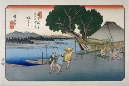 Shionata, pl. 24 from a facsimile edition of Sixty-nine Stations of the Kiso Highway (Kisokaido rokujukyu tsui)