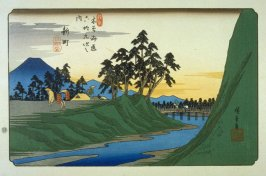 Shimmachi, pl. 12 from a facsimile edition of Sixty-nine Stations of the Kiso Highway (Kisokaido rokujukyu tsui)