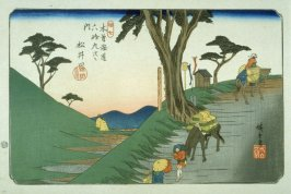 Matsuida, pl. 17 from a facsimile edition of Sixty-nine Stations of the Kiso Highway (Kisokaido rokujukyu tsui)