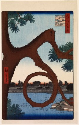 The Moon Pine at Ueno (Ueno sannai tsuki no matsu), no. 89 from the series One Hundred Views of Famous Places in Edo (Meisho Edo hyakkei)